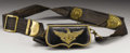Military & Patriotic:Civil War, A Very Rare Civil War Union Army Staff Officer's Silk and Leather Belt and Cartridge Box This is a very rare surviving silk,...