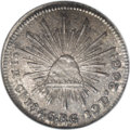 Mexico: , Mexico: Republic 1 Real 1845 Ca-RG, KM372, MS65 NGC. A trulyincredible piece, with a nearly flawless strike. The pristinesurfaces ...