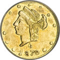 California Fractional Gold, 1870 25C Liberty Round 25 Cents, BG-836, High R.7, MS61 NGC....