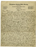 Autographs:Celebrities, Isaac R. Diller, Lincoln's Neighbor and Playmate of Willie and TadLincoln, Autograph Letter Signed, one and one-half pages,...