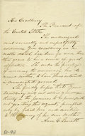 "Autographs:U.S. Presidents, Anna E. Surratt Autograph Petition Signed Requesting the Remains ofher Mother Mary Surratt, 1 page, 5"" x 8"" with docket..."
