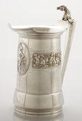 Silver & Vertu:Hollowware, AN AMERICAN COIN SILVER AND SILVER GILT PITCHER. Gorham Manufacturing Co., Providence, Rhode Island, circa 1860. Marks: (lio...