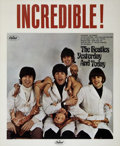 "Music Memorabilia:Posters, The Beatles ""Butcher Cover"" Promotional Poster (Capitol, 1966)...."