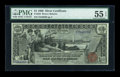 Large Size:Silver Certificates, Fr. 225 $1 1896 Silver Certificate PMG About Uncirculated 55 EPQ....