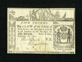 Colonial Notes:New York, New York February 16, 1771 £5 Choice Very Fine....