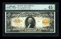 Large Size:Gold Certificates, Fr. 1187 $20 1922 Mule Gold Certificate PMG Choice Extremely Fine45 EPQ....