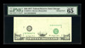 Error Notes:Missing Face Printing (<100%), Fr. 2072-G $20 1977 Federal Reserve Note. PMG Gem Uncirculated 65.....