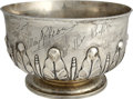 Movie/TV Memorabilia:Memorabilia, William A. Brady Jr., Silver Bowl from Cast of 1926 Play The TwoOrphans....