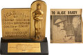 Movie/TV Memorabilia:Awards, Alice Brady's 1937 Best Supporting Actress Academy Award for InOld Chicago....