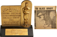 Alice Brady's 1937 Best Supporting Actress Academy Award for In Old Chicago