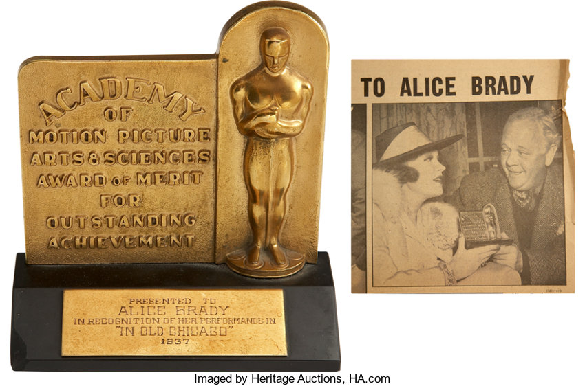 Alice Bradys 1937 Best Supporting Actress Academy Award For In Old