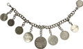 Movie/TV Memorabilia:Memorabilia, Alice Brady Charm Bracelet with Attached Coins Engraved with FilmTitles....