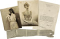 Movie/TV Memorabilia:Autographs and Signed Items, Lillian Gish and Dorothy Gish Signed Items and Glove.... (Total: 4 Items)