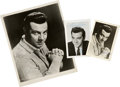 Movie/TV Memorabilia:Autographs and Signed Items, Mario Lanza Signed Portraits.... (Total: 3 Items)