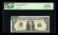 Error Notes:Obstruction Errors, Fr. 1915-A $1 1988A Federal Reserve Note. PCGS Very Choice New64PPQ.. ...