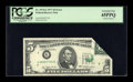 Error Notes:Foldovers, Fr. 1974-G $5 1977 Federal Reserve Note. PCGS Extremely Fine45PPQ.. ...