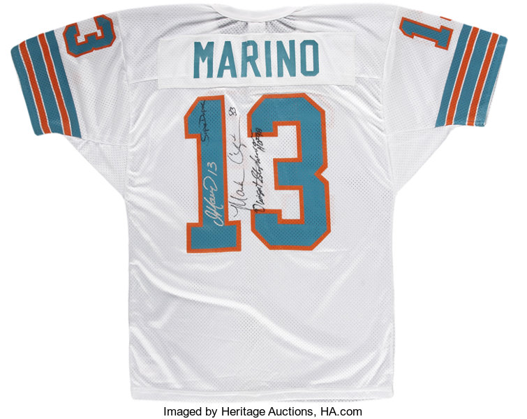 buy online a3728 01086 Miami Dolphins Legends Multi-Signed Dan Marino Jersey ...