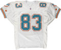 Football Collectibles:Uniforms, Scott Miller Dolphins Game Used Jersey. ...