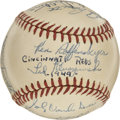 Autographs:Baseballs, 1949 Cincinnati Reds Team Signed Baseball....