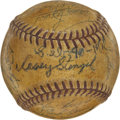 Autographs:Baseballs, 1954 New York Yankees Team Signed Baseball. ...