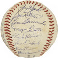 Autographs:Baseballs, 1959 Cincinnati Reds Team Signed Baseball....