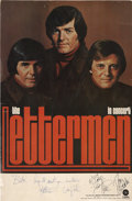 Music Memorabilia:Autographs and Signed Items, The Lettermen Signed Concert Poster....