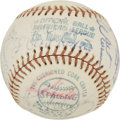 Autographs:Baseballs, 1974 New York Yankees Team Signed Baseball. ...