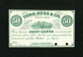 Obsoletes By State:Ohio, Tiffin, OH- Souder & Carpenter 50¢ Dec. 1, 1862. ...
