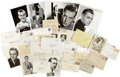 Movie/TV Memorabilia:Autographs and Signed Items, Gary Cooper and Others Vintage Star Signed Photos and Letters....(Total: 37 Items)