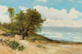 Fine Art - Painting, European:Antique  (Pre 1900), DANIEL SHERRIN (British, 1855-1955). Mother and Child at the Ocean. Oil on canvas. 20 x 30-1/4 inches (50.8 x 76.8 cm). ...