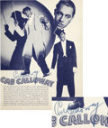 Music Memorabilia:Autographs and Signed Items, Cab Calloway Signed Cotton Club Program Book....