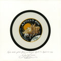 Explorers:Space Exploration, Apollo 13 Flown Beta Cloth Mission Insignia Signed by and from the Personal Collection of Mission Commander James Lovell. ...