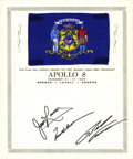 Explorers:Space Exploration, Apollo 8 Flown Wisconsin Flag from the Personal Collection ofMission Command Module Pilot James Lovell. ...