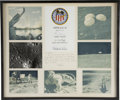 Explorers:Space Exploration, Apollo 16 Framed Photo Display Signed by the Crew, Presented byMission Lunar Module Pilot Charlie Duke. ...