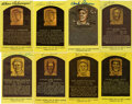 Autographs:Post Cards, Signed Hall Of Fame Plaque Postcards Lot of 15. ... (Total: 15items)