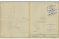Explorers:Space Exploration, Apollo Program RF Antenna Technical Drawing Signed by andOriginally from the Collection of Gordon Cooper, also Signed byStaf...