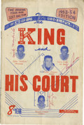 Autographs:Others, 1953-54 The King and His Court Team-Signed Program....