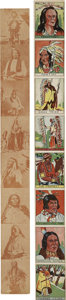 Memorabilia:Trading Cards, American Indian Chief Vintage Trading Card Strips Group (UnknownPublisher, 1930s-40s).... (Total: 2 Comic Books)