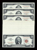 Small Size:Legal Tender Notes, Fr. 1513 $2 1963 Legal Tender Notes. 47 Consecutive Examples. Very Choice Crisp Uncirculated.. ... (Total: 47 notes)