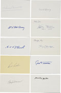 Autographs:Index Cards, Vintage Baseball Stars and Hall of Famers Signed Index Cards Lot of10.... (Total: 10 items)