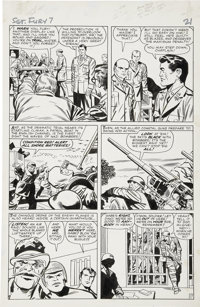 Jack Kirby and George Roussos Sgt. Fury #7, page 17 Original Art (Marvel, 1964)