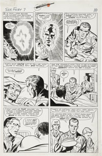 Jack Kirby and George Roussos (as George Bell) Sgt. Fury #7, page 8 Original Art (Marvel, 1964)