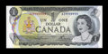 Canadian Currency: , BC-46a 1973 $1 Solid Nine Serial Number.. ...