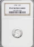 Proof Roosevelt Dimes: , 1956 10C PR67 Ultra Cameo NGC. NGC Census: (18/38). PCGS Population(27/21). Numismedia Wsl. Price for NGC/PCGS coin in PR...