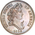Patterns, 1859 P50C Half Dollar, Judd-238, Pollock-294, R.5, PR65 BrownNGC....