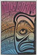 "Music Memorabilia:Posters, Moby Grape/Chambers Brothers Fillmore/Winterland Concert PosterBG-56 (Bill Graham, 1967) 13.75"" x 21""...."