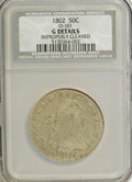 Early Half Dollars, 1802 50C O-101, R.3--Improperly Cleaned--NCS. Good Details....