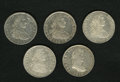 Mexico, Mexico: Ferdinand VII Bust 8 Reales - Quintet,... (Total: 5 coins)