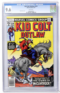 Kid Colt Outlaw #224 (Marvel, 1978) CGC NM+ 9.6 White pages