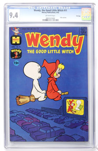 Wendy, the Good Little Witch #11 File Copy (Harvey, 1962) CGC NM 9.4 Off-white pages